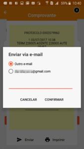 Comprovante Celcoin por Email