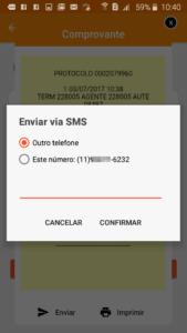 Comprovante Celcoin por SMS